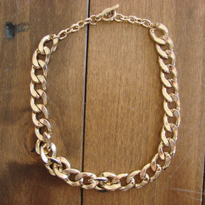 Chunky Gold Tone Necklace ~ Heavy